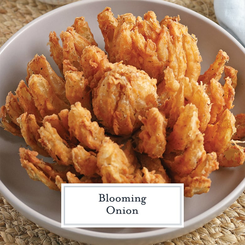fried blooming onion on a white dish
