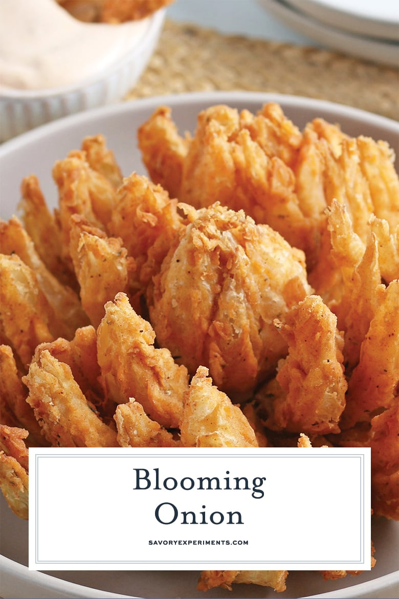 close up of blooming onion for pinterest