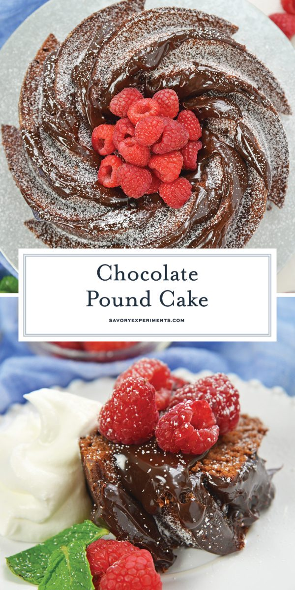 chocolate pound cake for pinterest
