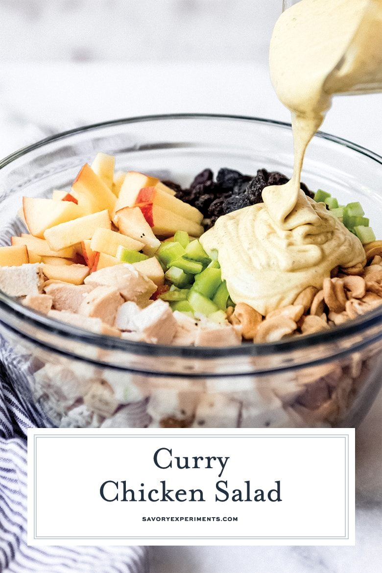 curried chicken salad for pinterest
