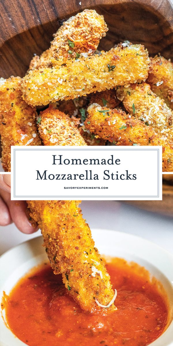 homemade mozzarella sticks for pinterest