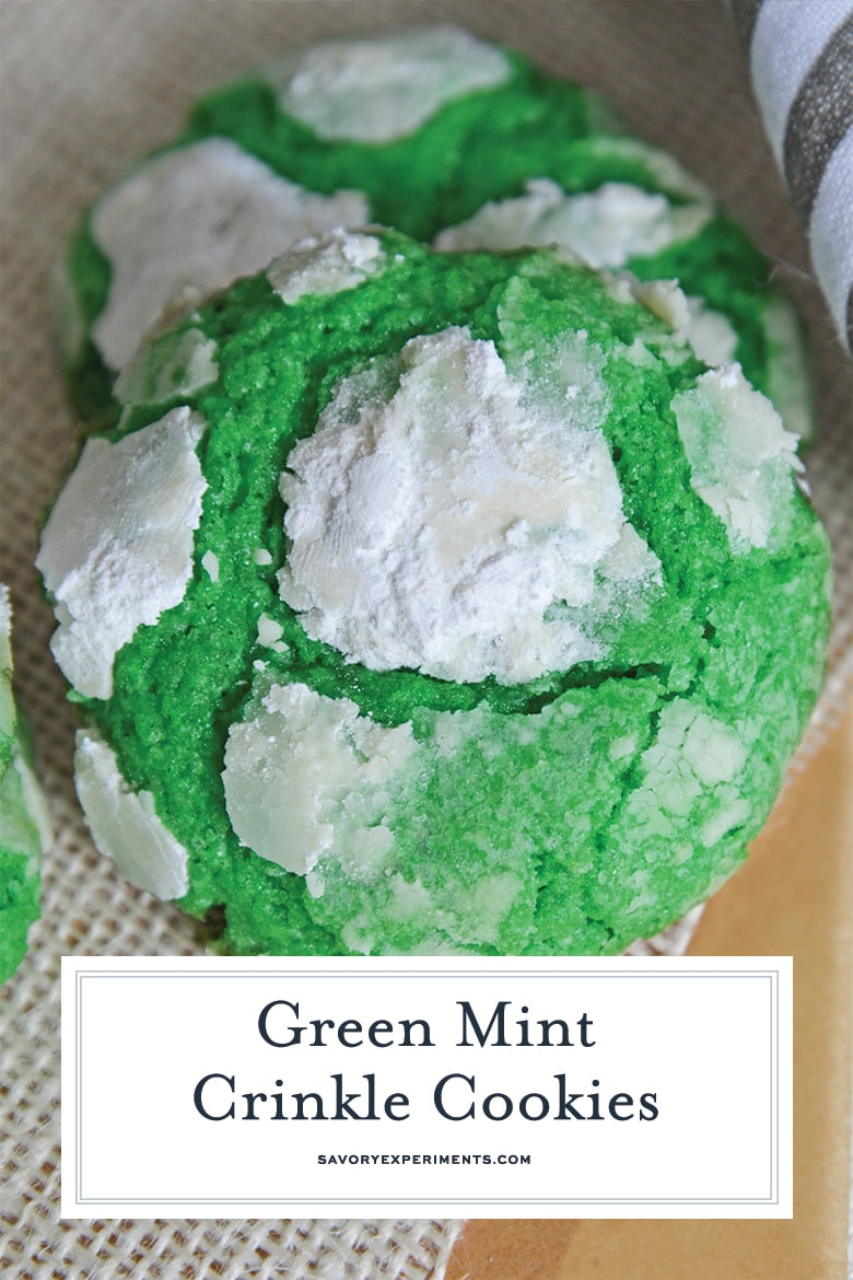 delicious mint cookies with powdered sugar
