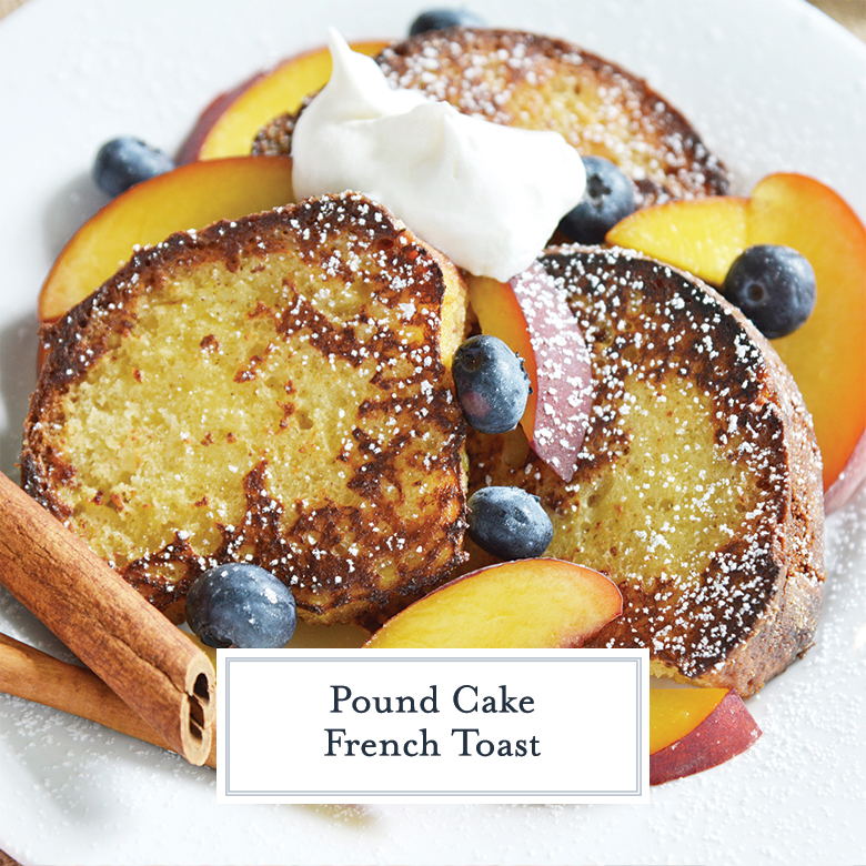 french toast with fresh fruit, powdered sugar and whipped cream