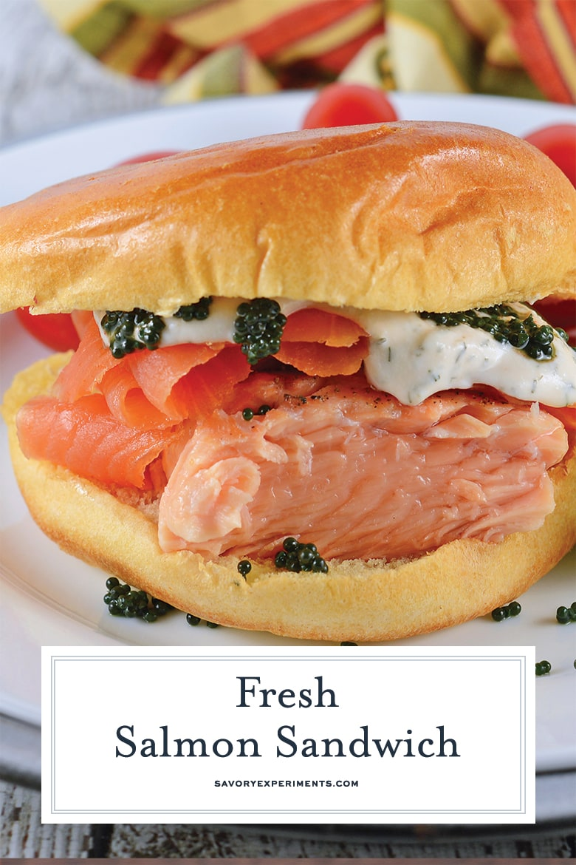 fresh salmon sandwich for Pinterest