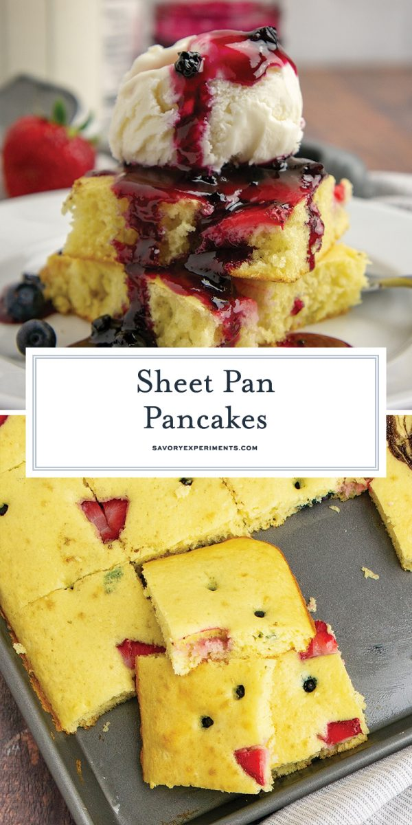 sheet pan pancakes for pinterest