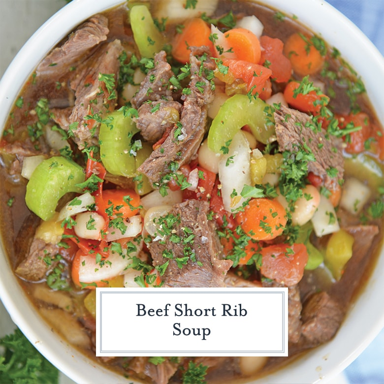 close up of short rib soup