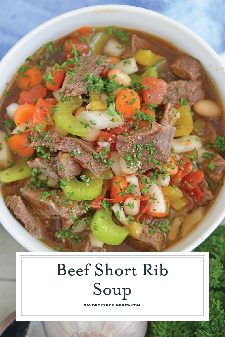 close up of short rib soup for pinterest