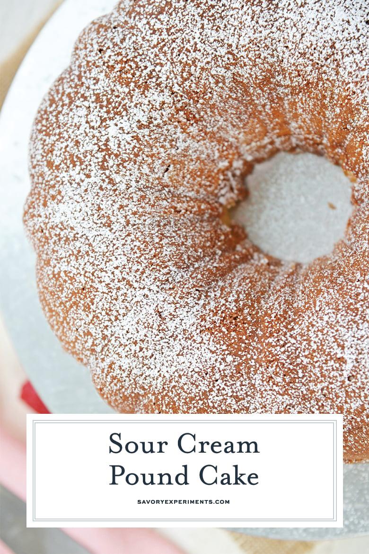 dusting sour cream pound cake
