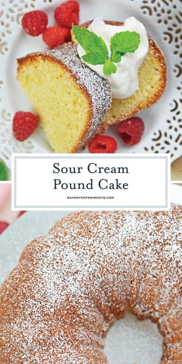 sour cream pound cake for pinterest