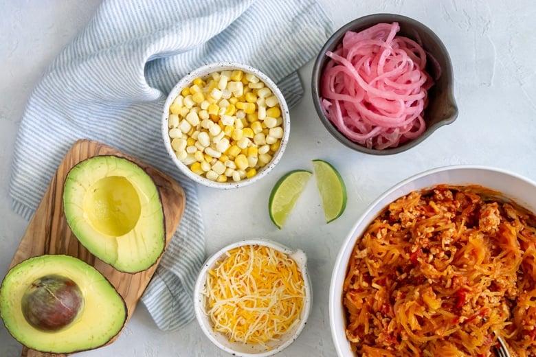 spaghetti squash taco boat ingredients