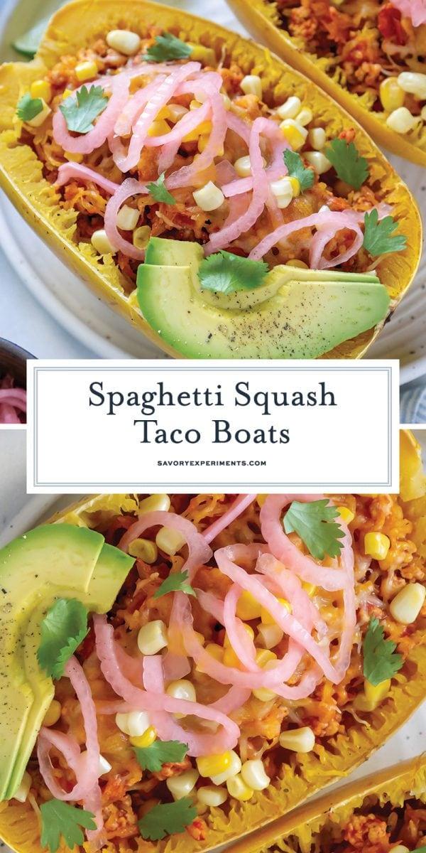 spaghetti squash taco boats for pinterest