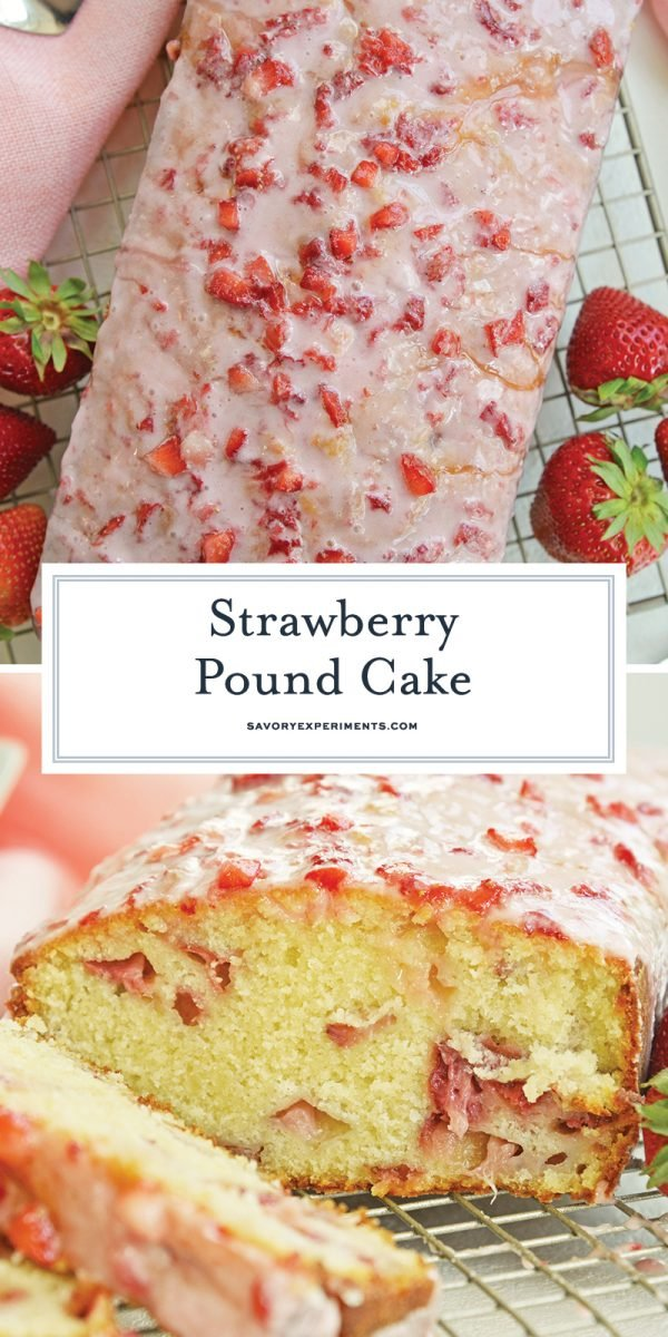strawberry pound cake for pinterest