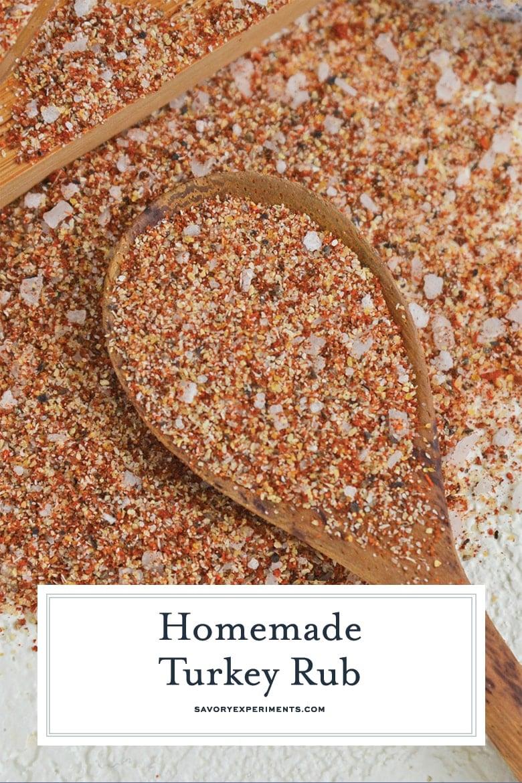 close up of turkey seasoning mix