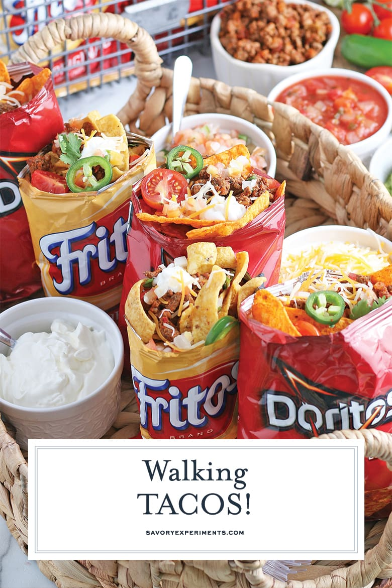 close up of walking tacos for pinterest