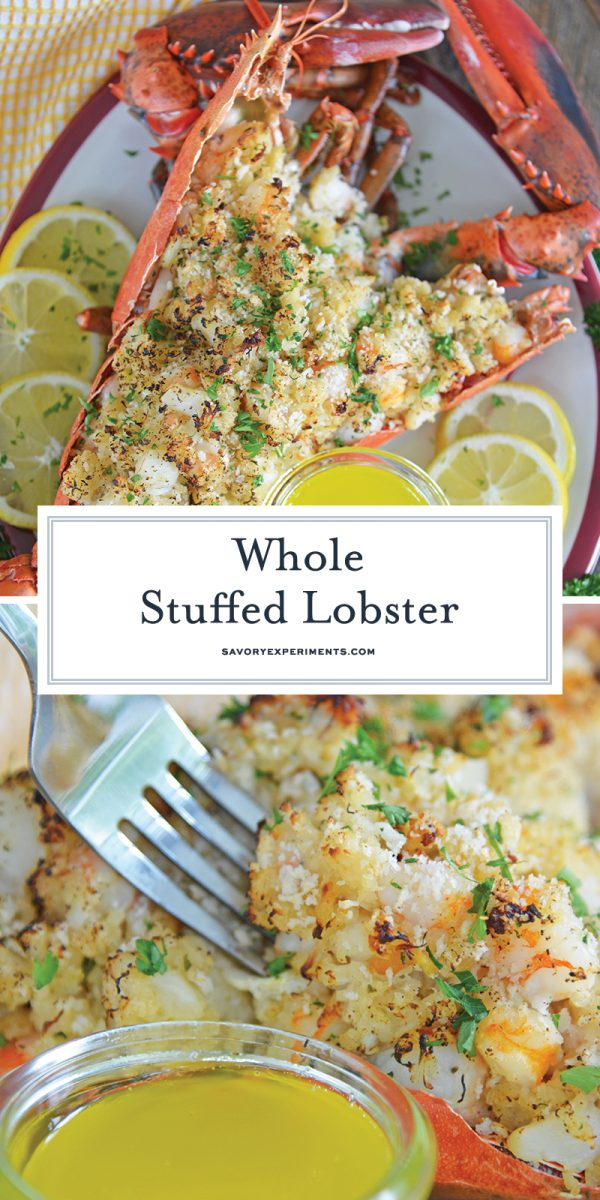 whole stuffed lobster for pinterest