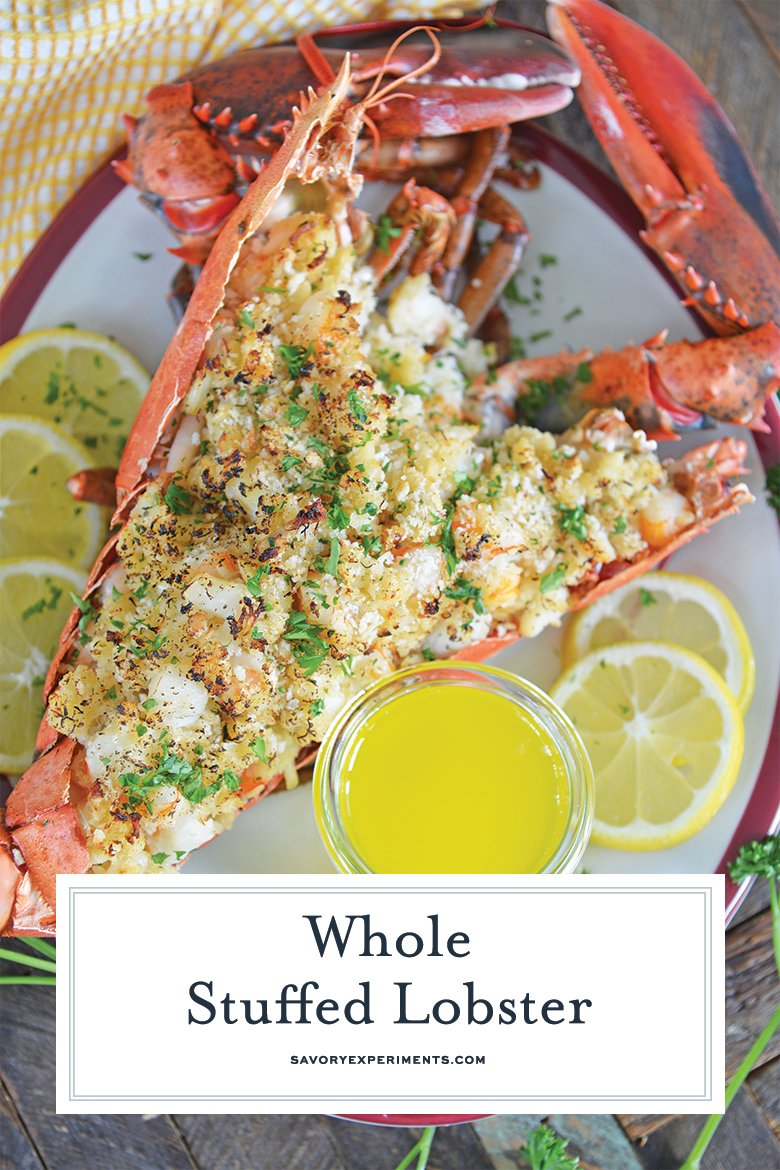 lemon butter stuffed lobster for pinterest