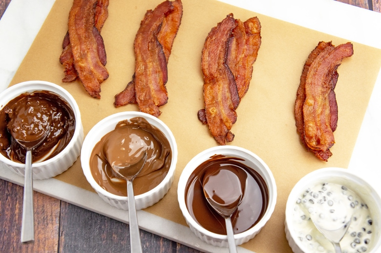 bacon with dipping chocolate