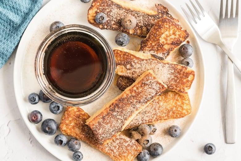 breakfast sticks on a plate