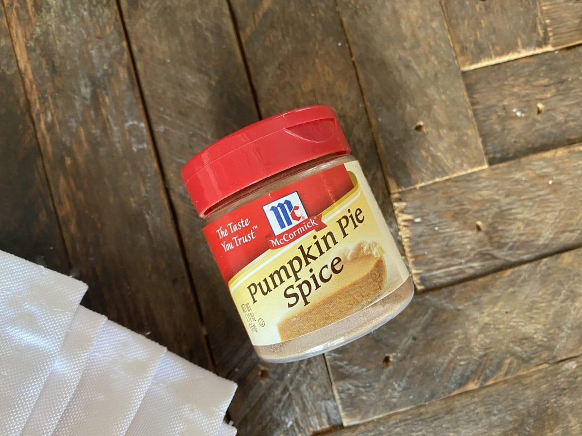 jar of pumpkin pie spice