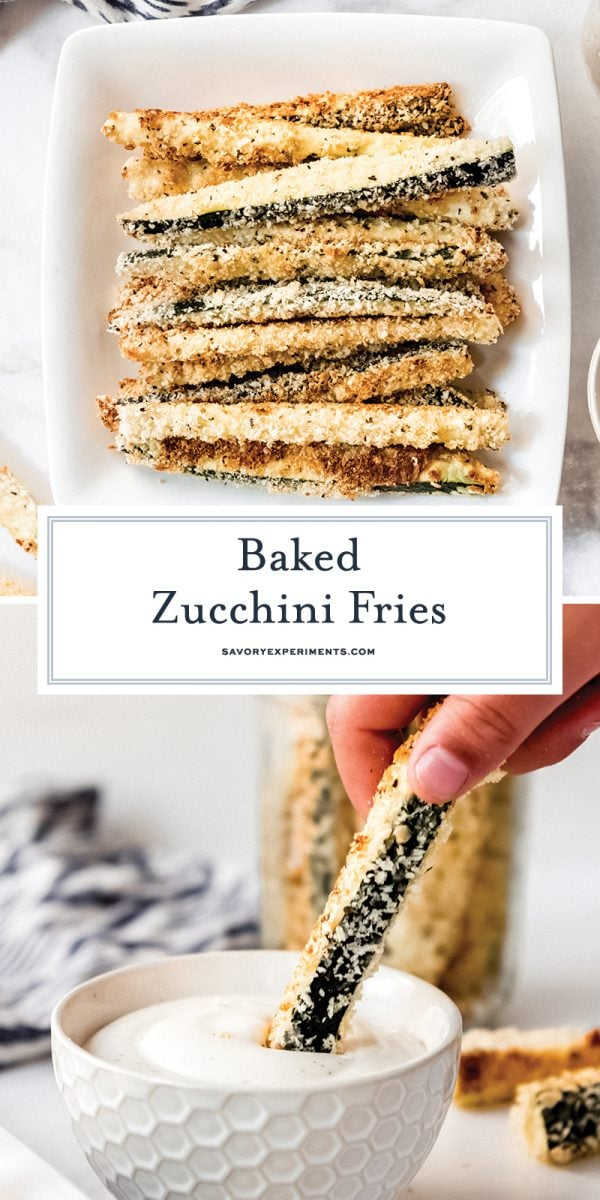 zucchini fries for pinterest