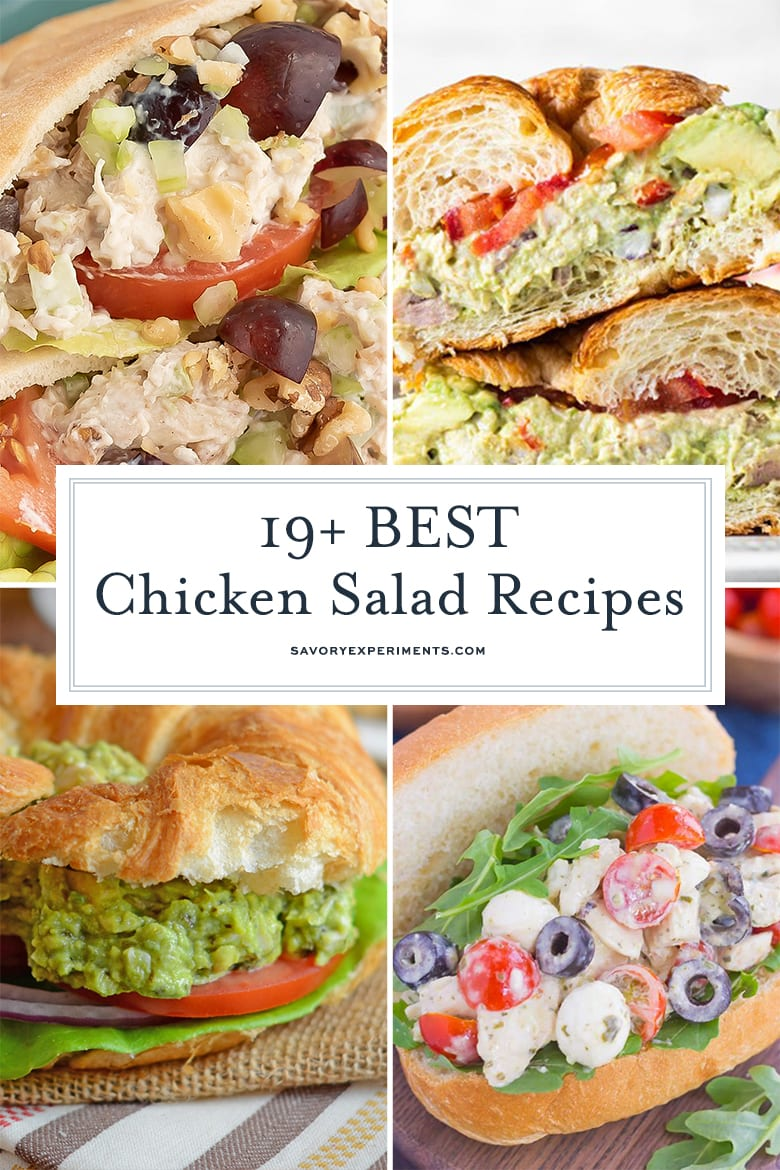 Collage of chicken salad recipes