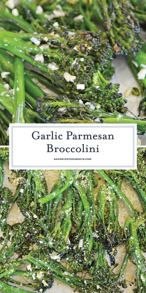 garlic parmesan broccolini for pinterest