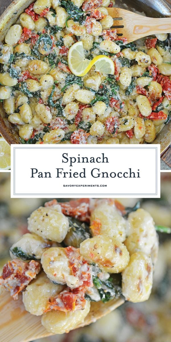 gnocchi with tomatoes and spinach for pinterest