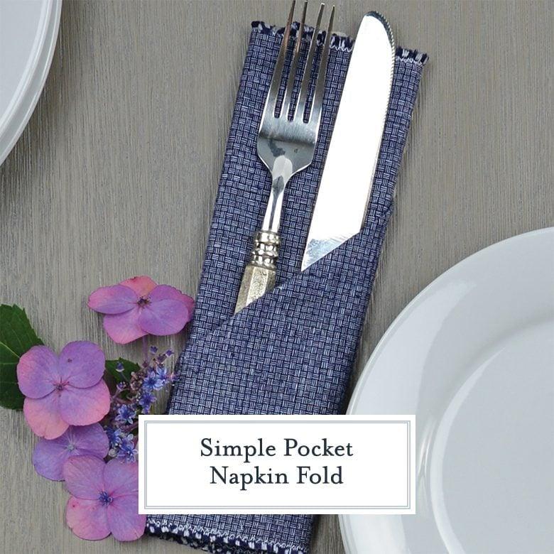 simple pocket napkin fold