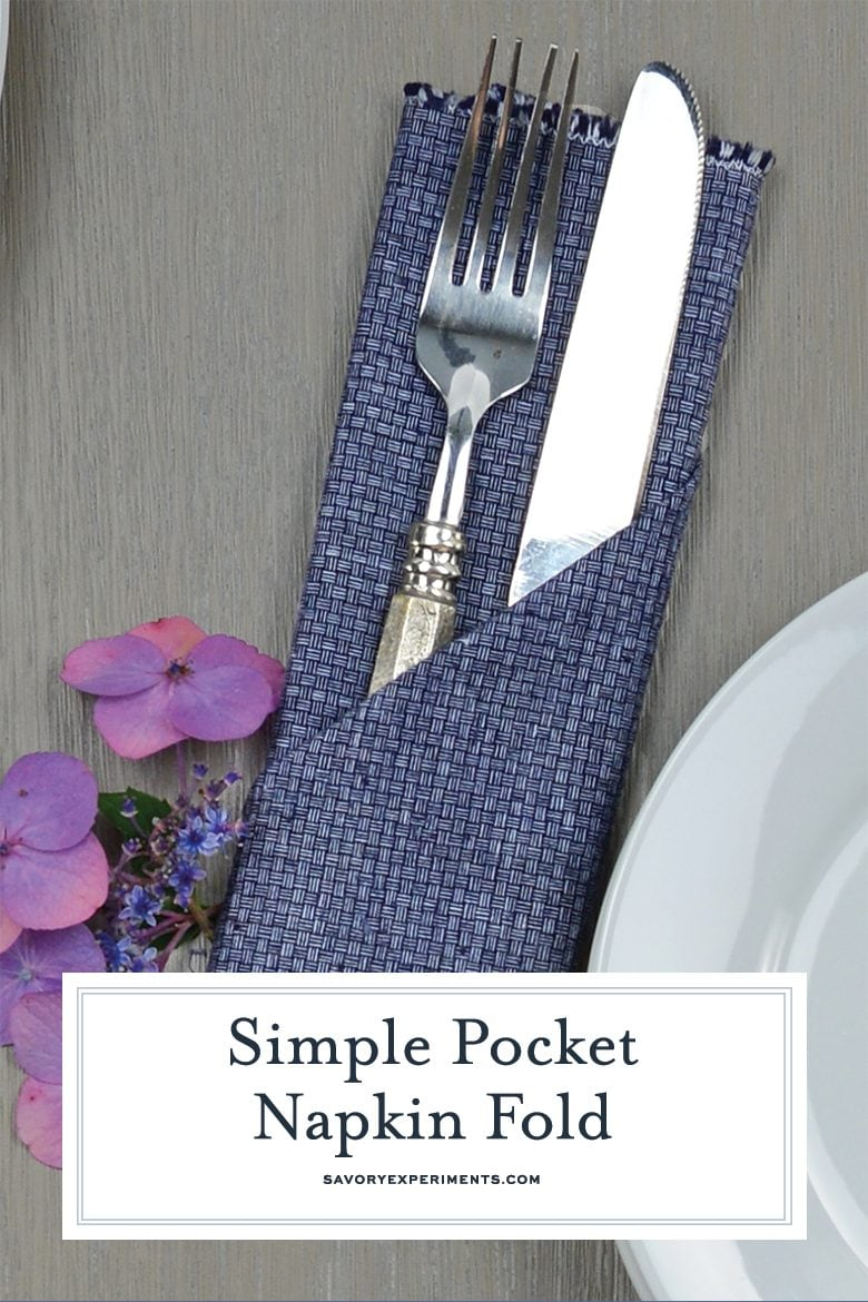 Simple Pocket Napkin Fold Easy Napkin Folding Idea