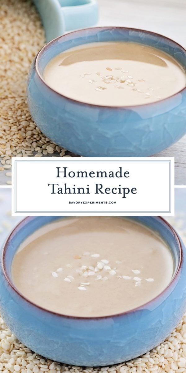 homemade tahini recipe for pinterest