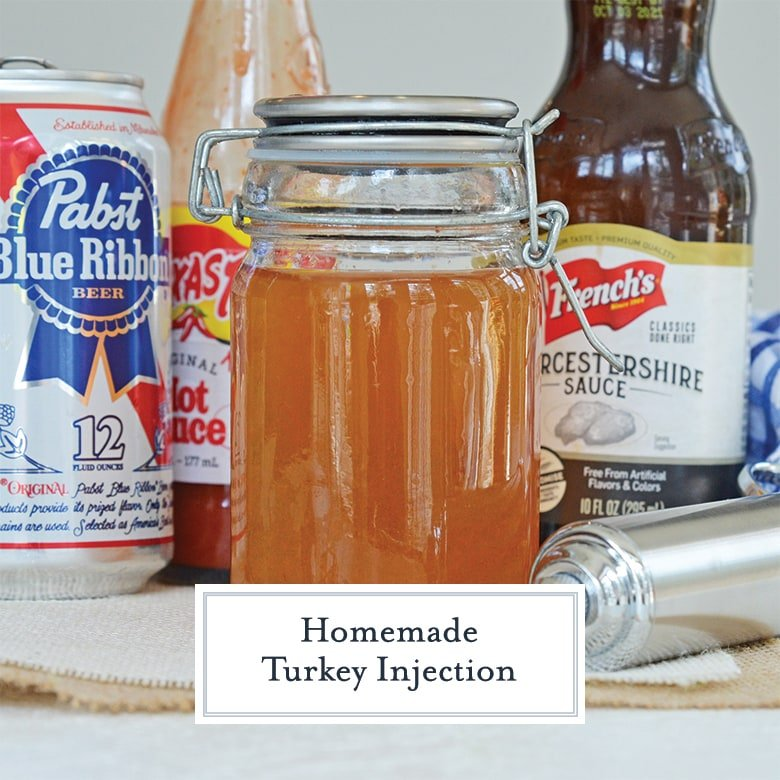 jar of turkey injection seasoning