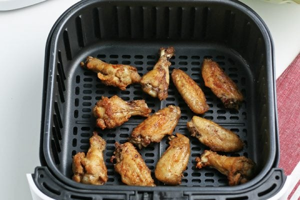 chicken wings in an air fryer