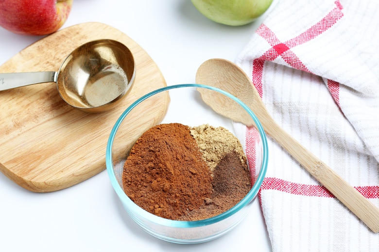 mixing together spice mix