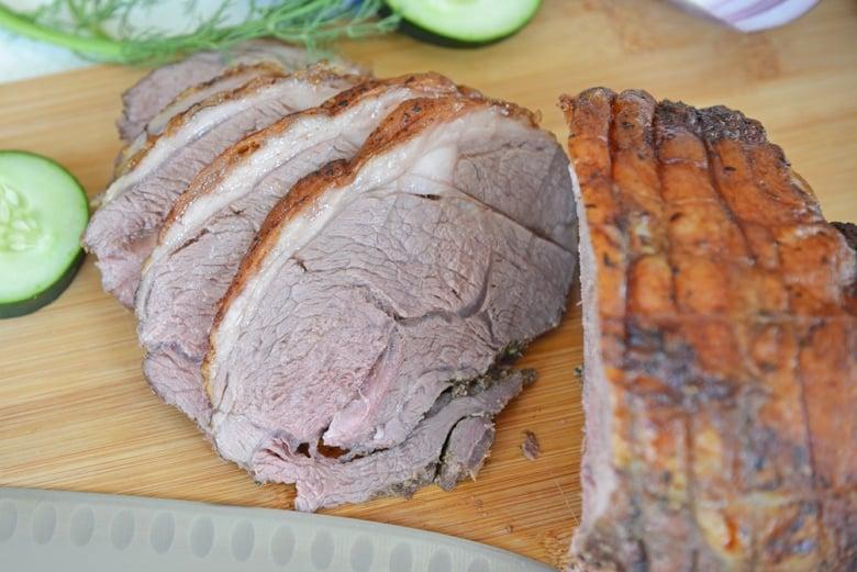 sliced leg of lamb