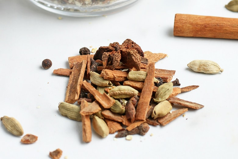 small pile of whole spices