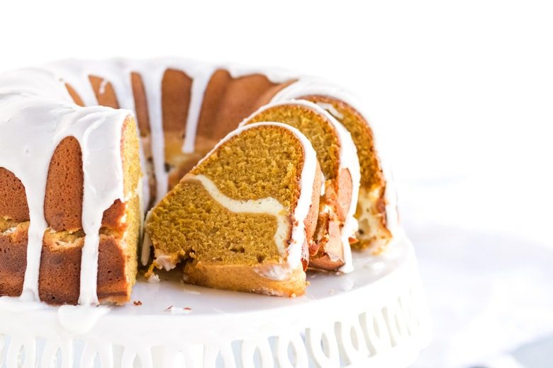 sliced pumpkin pound cake