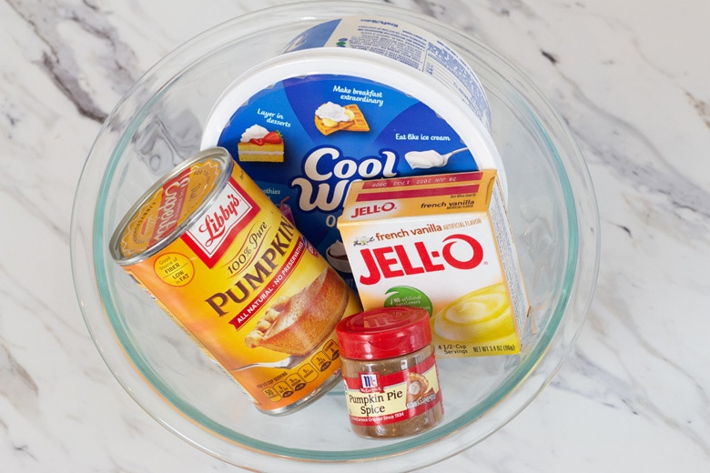 ingredients for pumpkin fluff