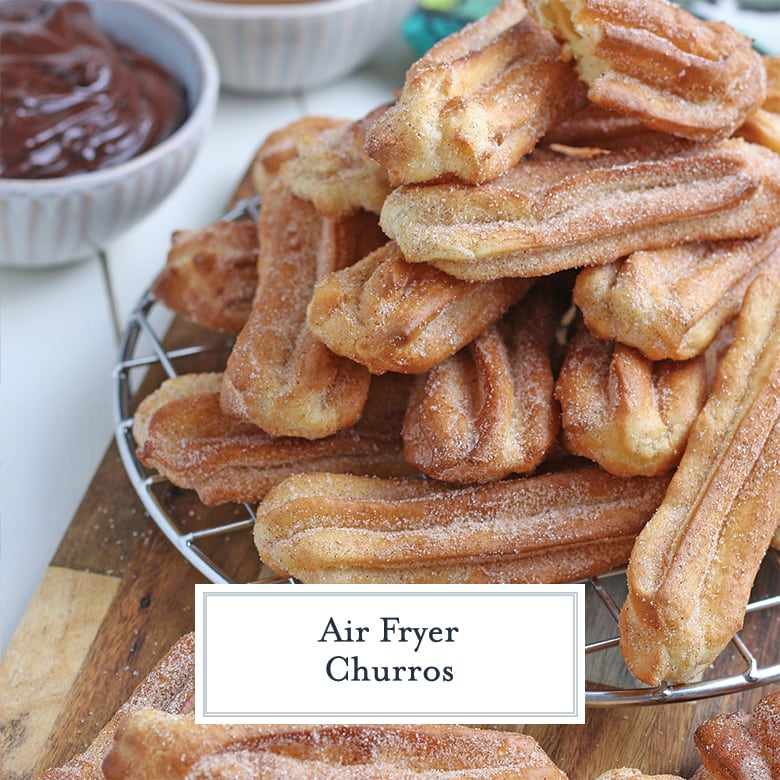 churros on a wire cooling rack