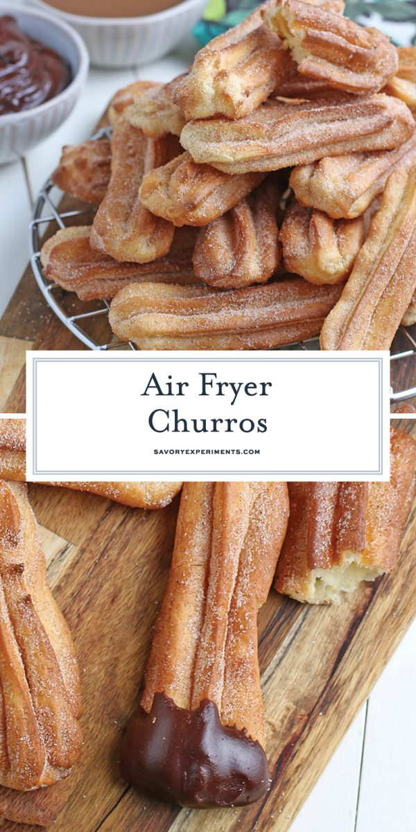 air fryer churros for pinterest