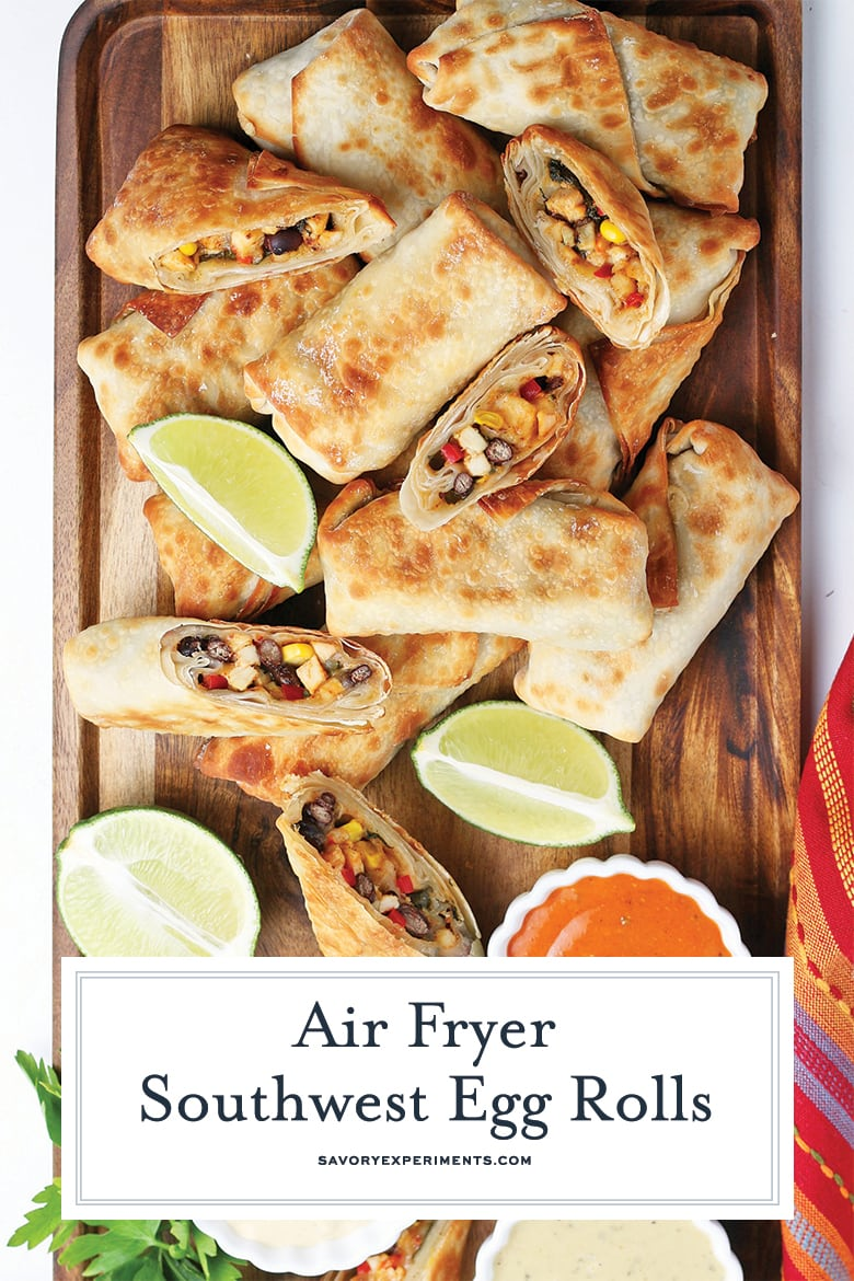 how to make southwest egg rolls in the air fryer