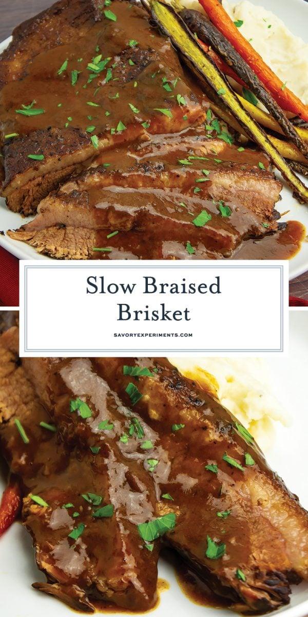 slow braised brisket for pinterest