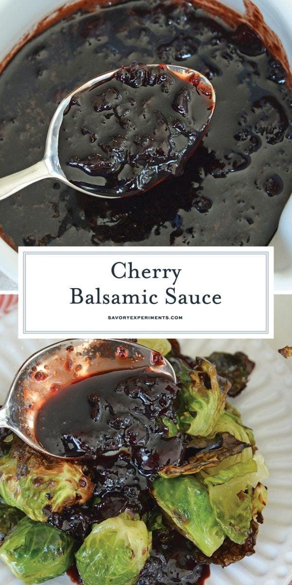 cherry balsamic sauce for pinterest