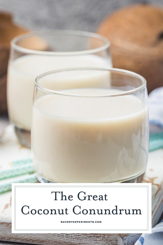 close up of coconut milk