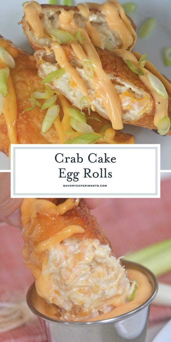 crab cake egg rolls for pinterest