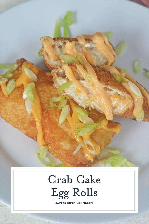 crab egg rolls for pinterest
