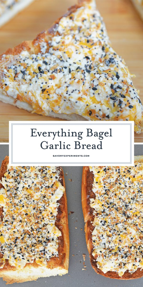 everything seasoning garlic bread for pinterest