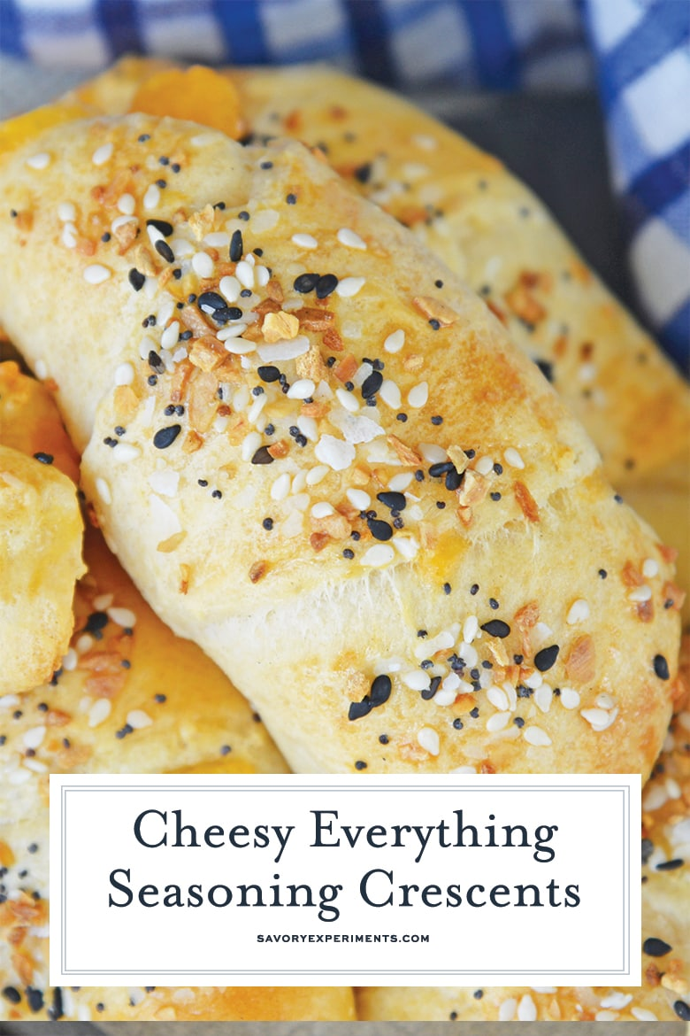 close up of everything crescent rolls for pinterest