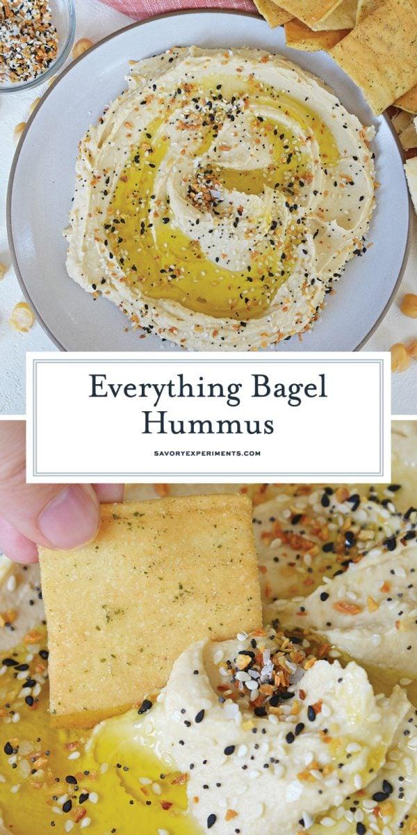 everything bagel hummus for pinterest