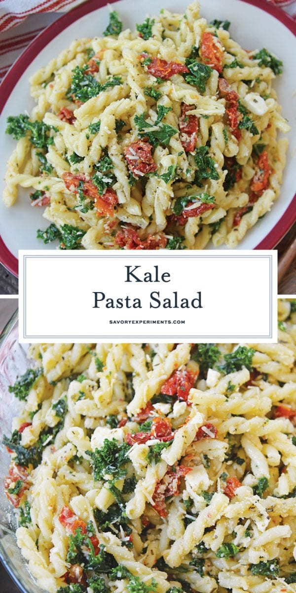 kale mac and cheese for pinterest