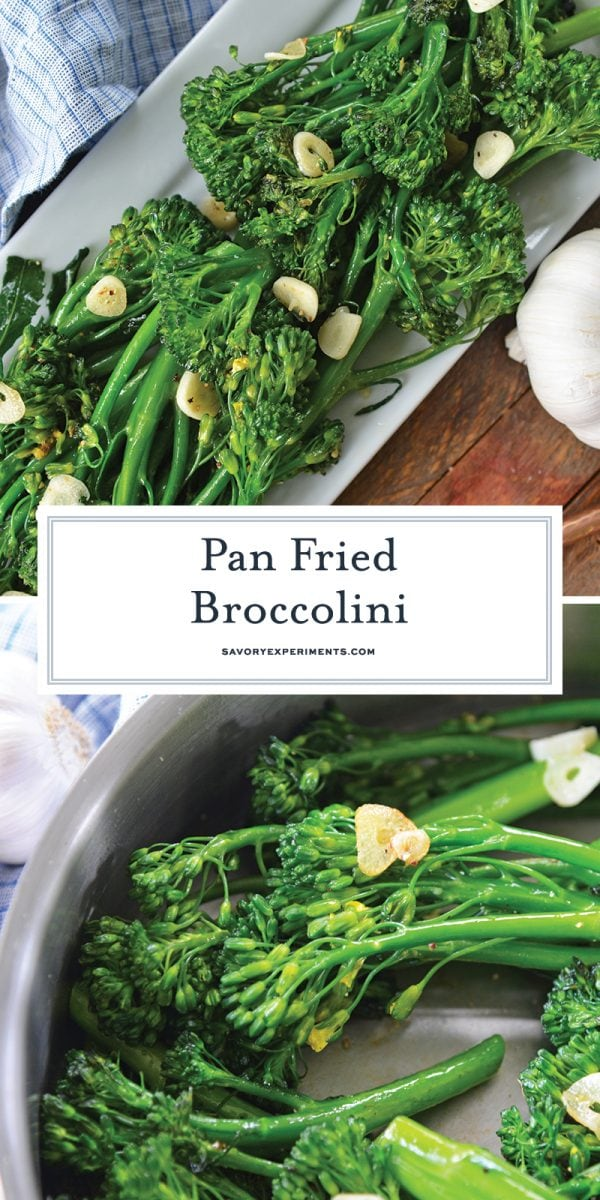 fried broccolini for pinterest